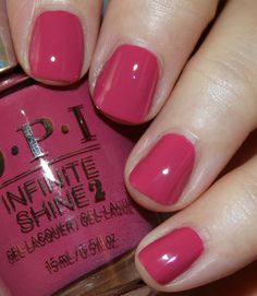 Aurora Berry-alis is a muted medium berry creme. Aurora Berry-alis is a muted medium berry creme. Dark Pink Nails, Pink Nail Colors, Pink Gel Nails, Opi Nail Polish, Opi Nails, Nail Polish Colors, Perfect Nails, Gorgeous Nails, Cute Nails
