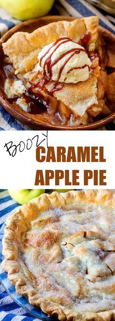 This is NOT your grandma's caramel apple pie! (Well, unless your grandma was a lush like mine...) #iambaker #applepie #caramelapple