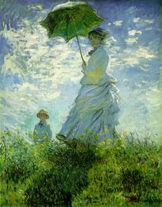 "Painting: ""The Stroll, Camille Monet and Her Son Jean (Woman with a Parasol) ""    Artist: Claude Monet  Source:  WebMuseum, Paris"