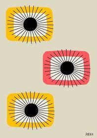 Ideas Design Pattern Wallpaper Fabrics For 2019 60s Patterns, Textures Patterns, Print Patterns, Mid Century Modern Art, Mid Century Art, Retro 50, Illustrations, Illustration Art, Background Drawing