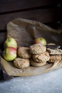 Vegan and Gluten Free Apple Oat Biscuits!  These turned out great  and Tristan loves them for his breakfast on the go! I added Chia Seeds for a little extra...ooomph!