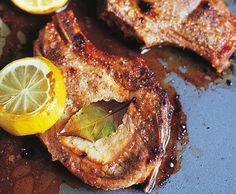 Schweinskoteletts mit Zitronenhonig