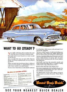 1951 Buick Car & Arrow White Shirts Advertisement Ads Print Poster Mechanic Shop Garage Department Store Fashion Men Wall Art Home Decor