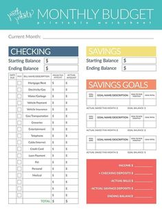 Personal Budget Planner Financial Budget Printable Planner