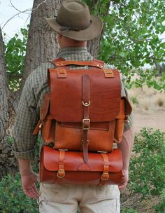 Holy schmoley a leather backpack that looks like it can last really well