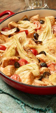 Fenchel-Fans aufgepasst! Unser Putenragout mit Fenchel ist ganz bestimmt das Richtige für euch. Mit saftigen Tomaten und Oliven verfeinert, bekommt dieses Ragout eine mediterrane Note. Wir wünschen guten Appetit.