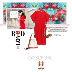 Set # 508 / Open Back Red Dress by & Other Stories Marni, Asos, Polyvore, Red, Collection, Dresses, Design, Women, Vestidos