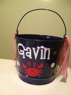 Hey, I found this really awesome Etsy listing at https://www.etsy.com/listing/95418970/personalized-easter-bucket-10-quart