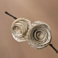 Paper Roses cut from books