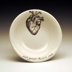 I will eat your cold, black heart.  4 Anatomical Dipping Bowls on Etsy. $30