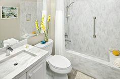 Bathroom in Corian® Rain Cloud
