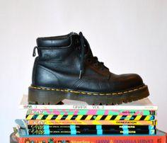 90s Black Dr. Martens Black Boots Size 9/ Vintage by Hookedonhoney, $125.00 #docmartens #drmartens #vintagedocs #madeinengland #docmartens #vintagedocmartens #vintageblackboots