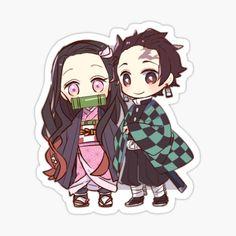 Kawaii Chibi, Anime Kawaii, Anime Chibi, Kawaii Stickers, Anime Stickers, Cute Stickers, Demon Slayer, Slayer Anime, Slayer Tattoo