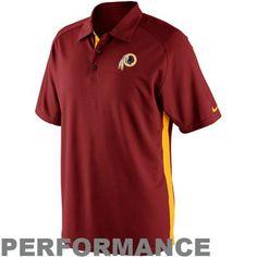 Nike Washington Redskins 2012 Coaches II Sideline Performance Polo - Dri-fit me.