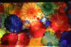 Dale Chihuly installation:-Garden and Glass, close-up, Seattle