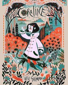 Book cover designs for the portfolio #coraline #bookcovers #illustration…