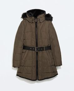 ZARA - WOMAN - LONG DOWN ANORAK WITH PIPING