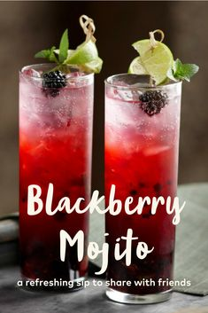 A mojito is Cuba's most famous cocktail. In this mojito recipe, It is important that the blackberries and mint are gently muddled - never crushed - to release their flavors but not release harsh or bitter tannins into the beverage. A wooden spoon or firm silicone spatula can be used in place of a muddler.
