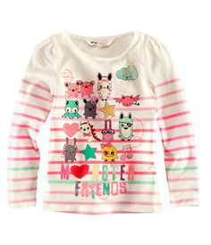 Girls Monster Characters Tee H