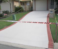 """All you need to know about driveway paint: not just for curbs and lines... and """"how-to"""" paint driveways and more. Most importantly, my shortlist of driveway paints you can trust. Both are types of epoxy but don't worry, it's easy. Concrete Driveway Paint, Best Concrete Paint, Concrete Driveways, Painting Concrete, Stained Concrete, Blacktop Driveway, Expansion Joint, Paint Companies, Painted Floors"""