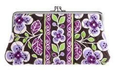 Vera Bradley clutch wallet in plum petals
