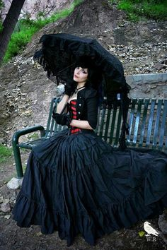 Cosplay Inspiration Elegant Goth parasol DIY eyyy its me! or how i see me. lol