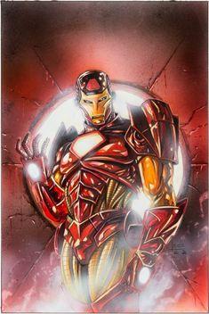 Leonardo Manco - Iron Man Illustration Original Art Lustrous image of the Golden Avenger by War Machine - Available at 2016 August 4 - 6 Comics &. Comic Book Covers, Comic Books Art, Comic Art, Book Art, Marvel Avengers, Marvel Comics, Man Illustration, Art Illustrations, Iron Man Pop