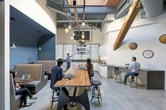M Moser Associates has designed the offices of real estate company Alexandria Real Estate, located in San Francisco, California.