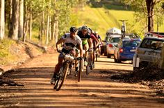 Dylan Cooper & Jason English lead the Mountains to Beach MTB Stage Race.    www.iadventure.com.au