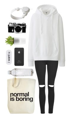 """""""normal is boring"""" by bilboes ❤ liked on Polyvore featuring Topshop, Uniqlo, Incase, WeSC, Nikon and Eva Solo"""
