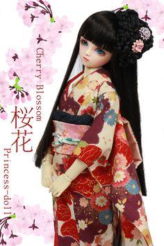 "Limited Items: [Princess-doll]Limited Edition Kimono ""Cherry Blossom"""
