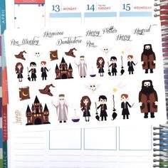 Harry Potter stickers for use with Erin by JumpToItDesignsInc