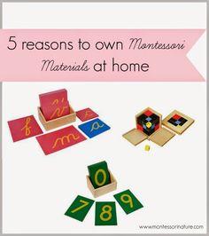 5 Reasons To Own Montessori Materials at Home. | Montessori Nature