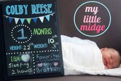 "Baby's Monthly Hand Painted Wooden Resuable 11""x14"" Chalkboard - great for photo props, pictures, newborn, baby stats, customizable on Etsy, $38.00"