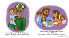 Samuel Worships God Page 1 - FISHNET BIBLE STORIES