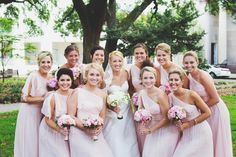 Bridesmaids in soft pink | Erin Rene Photography