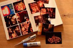 キャンドルナイトの写真をほぼ日手帳に貼る。 | なんでもない日の記念写真。