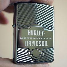 Zippo Armor Black Ice Harley Davidson Logo Lighter