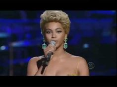 "Beyonce singing the Etta James Classic ""At Last"". I hate to say it but I truly love this one even better than what how Etta James sang it."