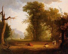 Early American Artist, George Caleb Bingham (1811-1879) - cattle grazing