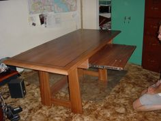 African Mahogany Computer Desk - pull out keyboard