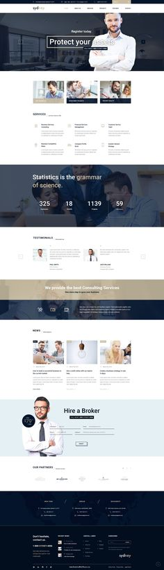 Sydney is a simple but complex PSD file containing all the features a financial #business #website needs. The clean and smart design offers a genuine outlook on the #financial websites market. #psdtemplate