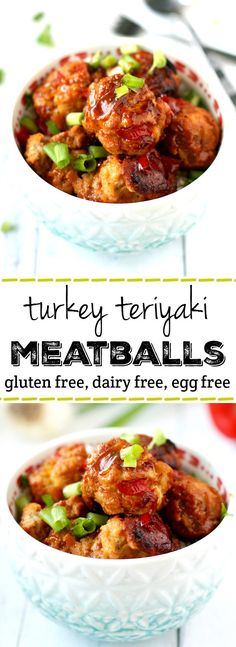 Turkey teriyaki meatballs are full of flavor and are perfect for a family friendly dinner! Gluten free and egg free. (Gluten Free Recipes For A Crowd)
