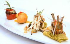 A dish of Peruvian regional creations by Gaston Acurio