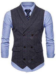 Waistcoat Men Casual, Mens Suit Vest, Men's Waistcoat, Mens Suits, Waistcoat Men Wedding, Double Breasted Waistcoat, Outfit Hombre Casual, Chaleco Casual, Gilet Costume