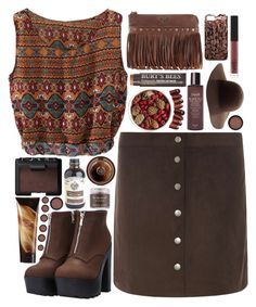 """""""Chocolate Coffee"""" by ladyvalkyrie ❤ liked on Polyvore featuring Dorothy Perkins, Pier 1 Imports, Patricia Nash, Burt's Bees, Fresh, NARS Cosmetics, The Body Shop, Madewell, Sara Happ and Max Factor"""