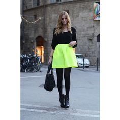 Neon skirt found on Polyvore