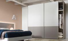 Armario de puertas correderas modelo Plafones de la colección Nuit.