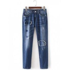 Patched Rough Selvedge Tapered Jeans