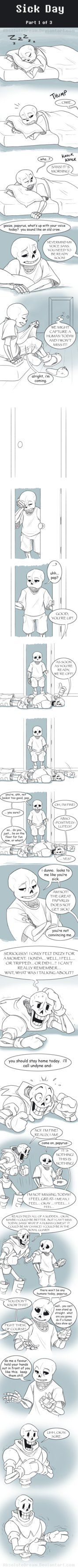 UT Comic: Sick Day Part1 by AbsoluteDream.deviantart.com on @DeviantArt